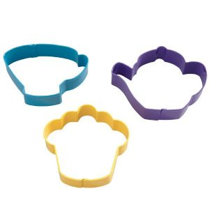 Tea Party Coloured Metal Cutter Set